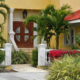 Entrance to a luxurious custom Florida home