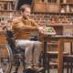 Man in Wheelchair accessible kitchen